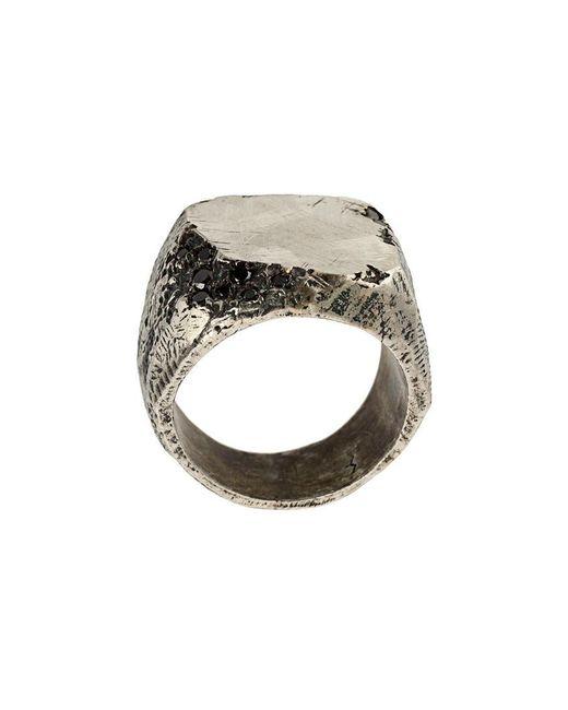 Tobias Wistisen - Metallic Detail Ring for Men - Lyst