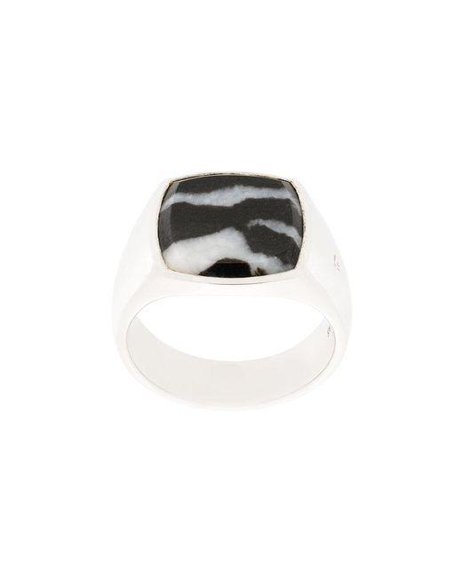 Tom Wood - Metallic Cushion Zebra Ring - Lyst