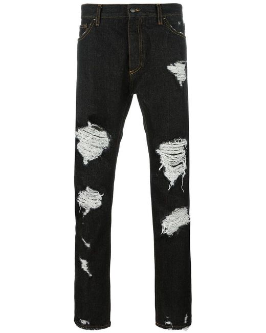 Palm Angels | Black Ripped Regular Jeans for Men | Lyst