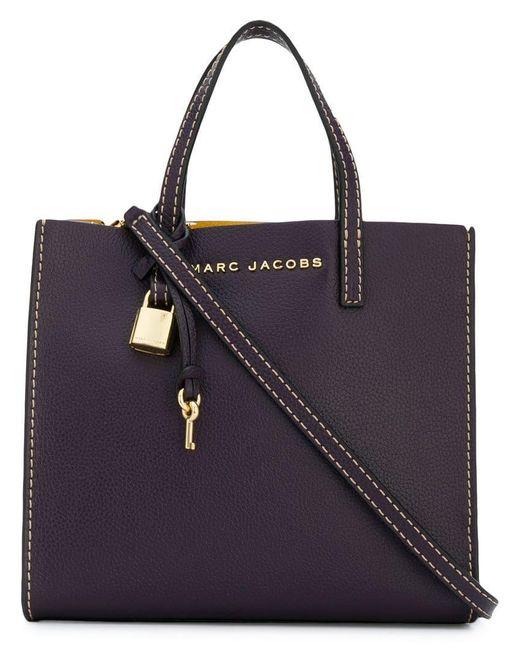 7ecaad1f606e5 Marc Jacobs The Mini Grind Tote Bag in Purple - Save 4% - Lyst