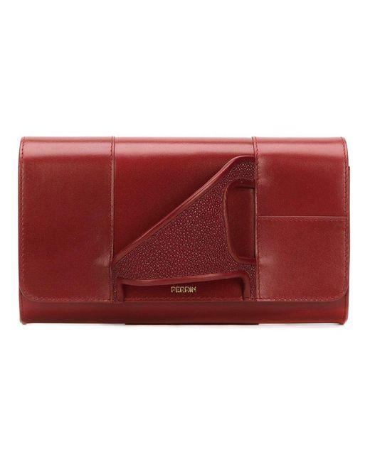 PERRIN Paris - Red 'asymmetric Glove' Clutch - Lyst