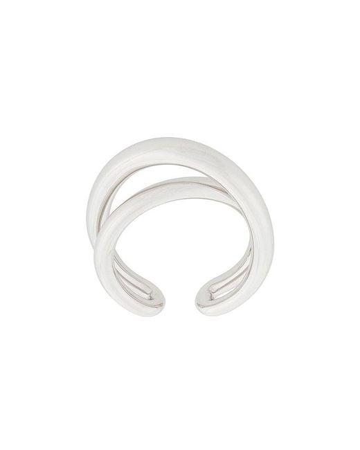 Charlotte Chesnais - Metallic Initial Ring - Lyst
