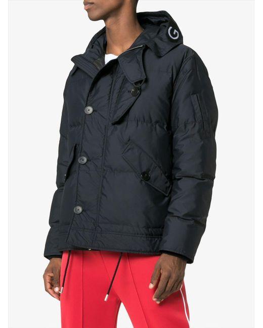 04125576e239 ... Givenchy - Black Logo Puffa Jacket for Men - Lyst ...
