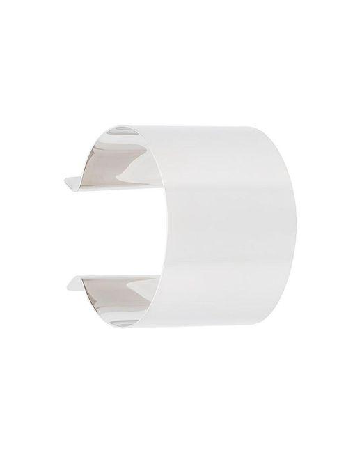 MM6 by Maison Martin Margiela | Metallic Wide Cuff Bracelet | Lyst