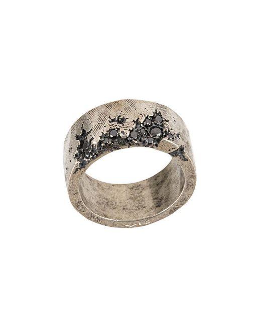 Tobias Wistisen - Metallic Broken Stone Edge Ring for Men - Lyst