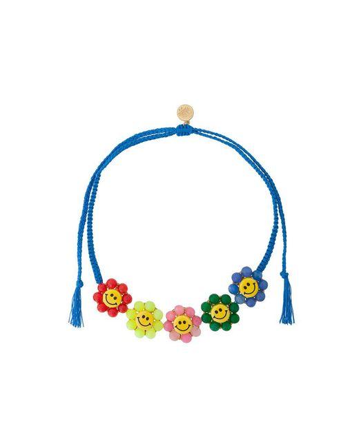 Venessa Arizaga | Blue Smiley Flowers Necklace | Lyst