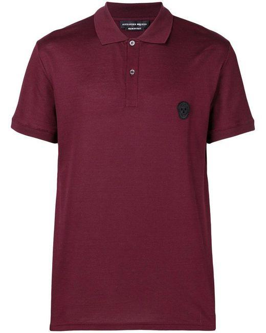 Alexander McQueen - Red Skull Logo Polo Shirt for Men - Lyst