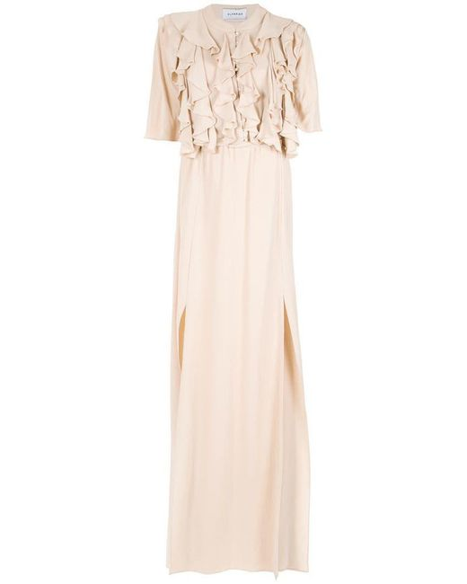 Olympiah - Natural Front Slits Gown - Lyst