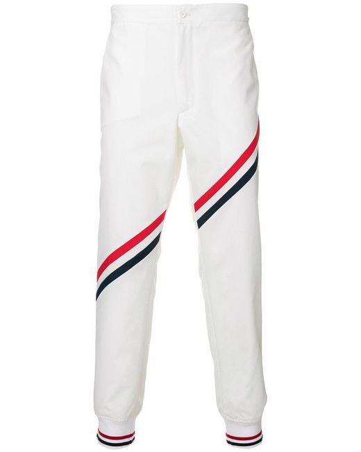 Thom Browne | White Stripe Detail Track Pants for Men | Lyst