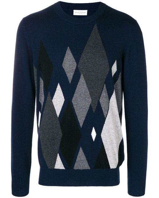 Ballantyne - Blue Argyle Knit Sweater for Men - Lyst