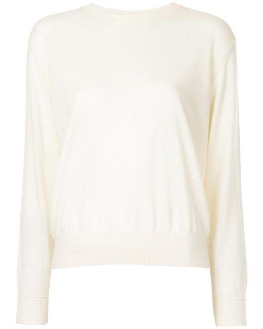 Astraet | White Round Neck Pullover | Lyst