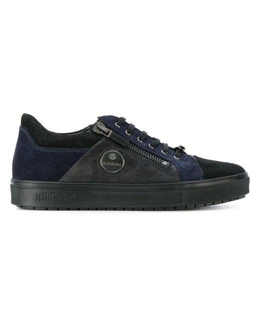 Baldinini | Black Contrast Panel Sneakers for Men | Lyst