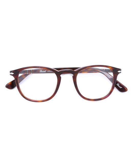 Persol - Brown Po0714 Polarised Aviator Sunglasses for Men - Lyst