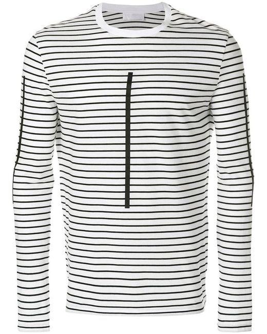 Neil Barrett - White Striped Jersey for Men - Lyst