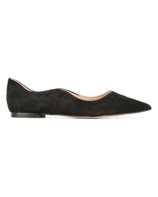 Sam Edelman - Black Pointed Toe Ballerina Shoes - Lyst