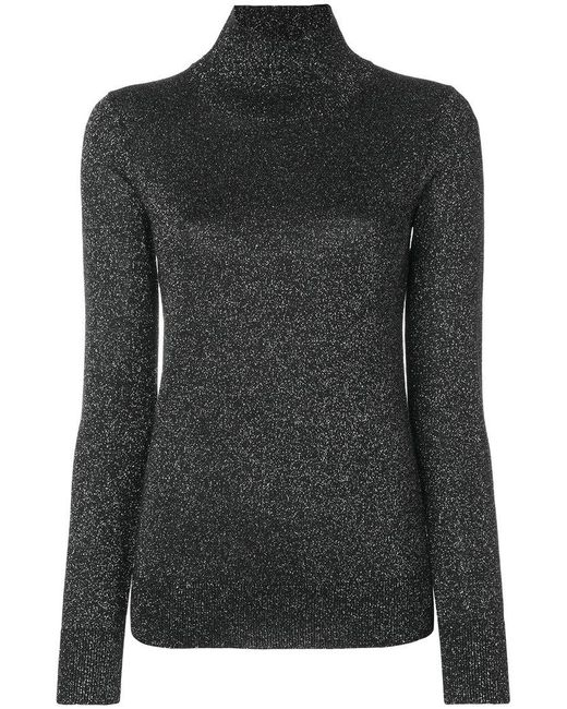 Joseph - Black Lurex High Neck Sweater - Lyst