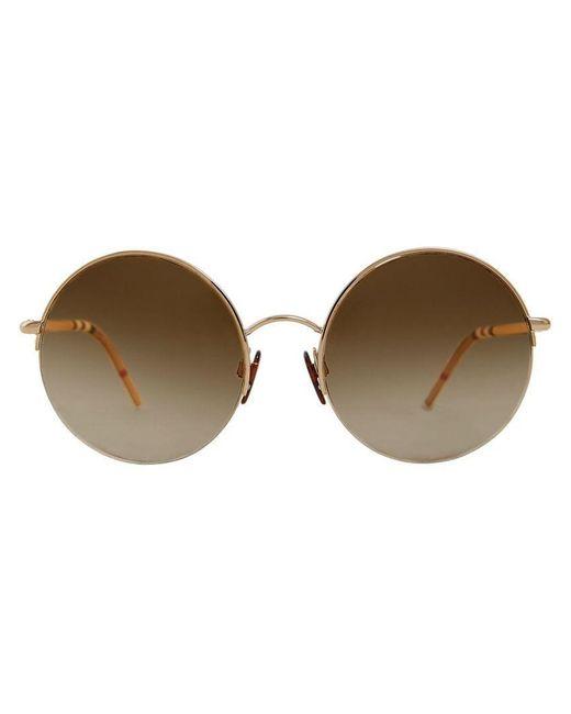 Burberry - Brown Check Detail Pilot Sunglasses - Lyst