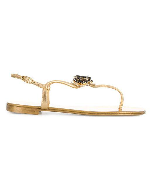 a36686529 Giuseppe Zanotti - Metallic Heart Embellished Sandals - Lyst ...
