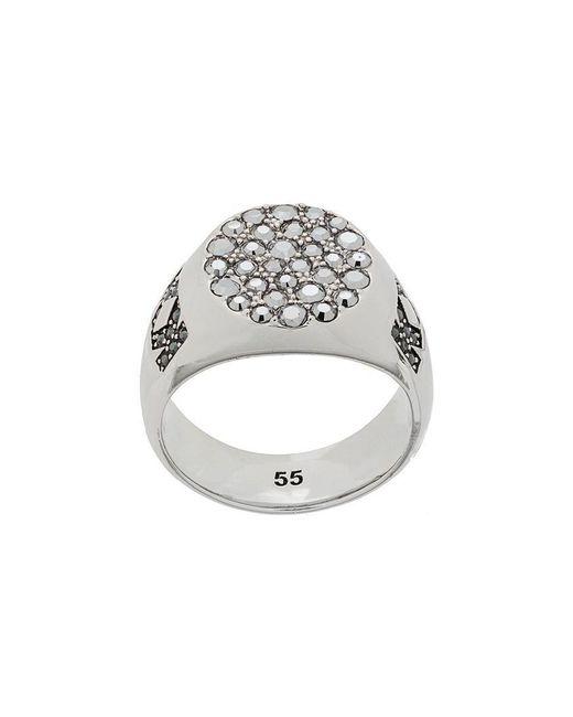 Karl Lagerfeld - Metallic Signet Ring - Lyst