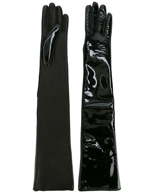 Manokhi - Black High Shine Gloves - Lyst