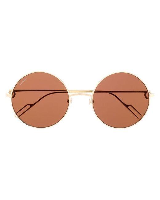 c2ca3d6bc8 Cartier - Metallic Round Frame Sunglasses - Lyst ...
