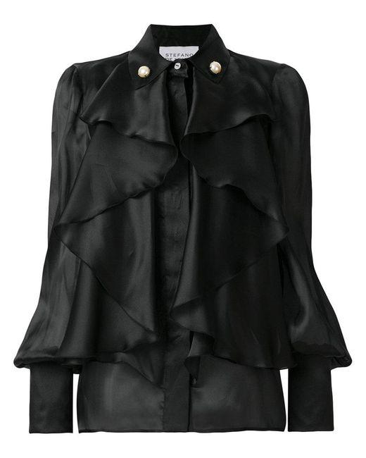 Stefano De Lellis - Black Ruffled Shirt - Lyst