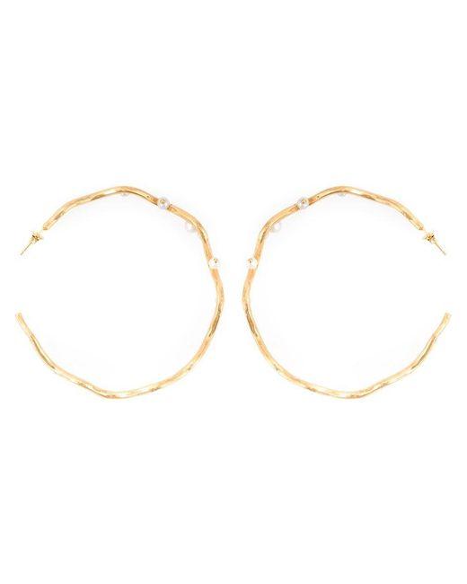 Aurelie Bidermann | Metallic 'cheyne Walk' Hoop Earrings | Lyst