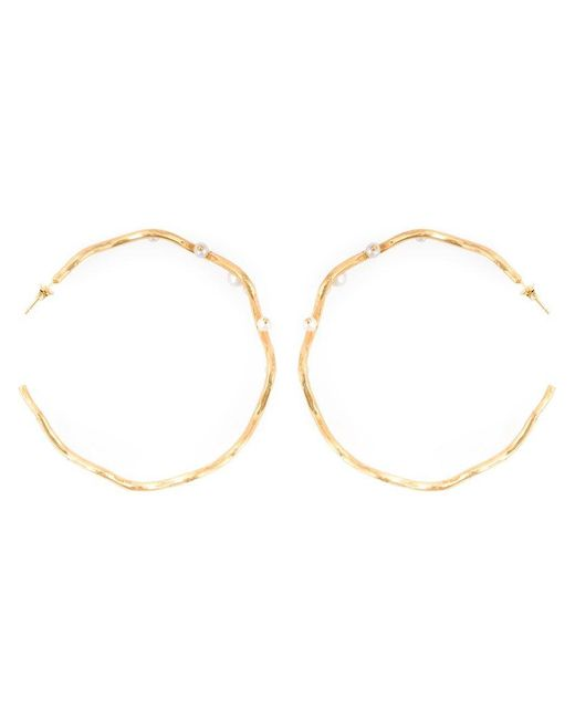 Aurelie Bidermann - Metallic 'cheyne Walk' Hoop Earrings - Lyst