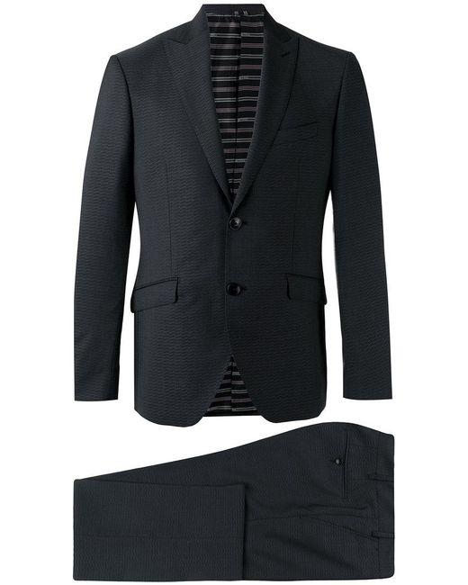 Etro | Black Patterned Two-piece Suit for Men | Lyst