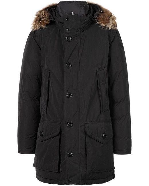 Moncler | Black Rethel Coat for Men | Lyst