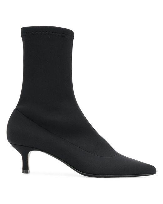 Aldo Castagna - Black Kitten Heel Sock Boots - Lyst