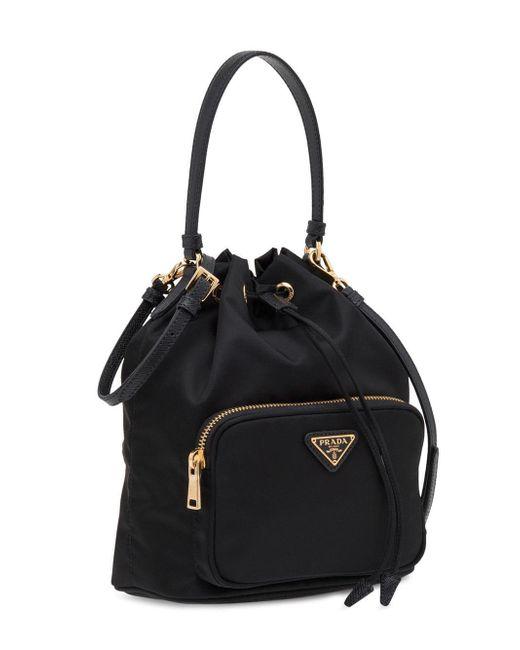da685504a2ca Lyst - Prada Fabric Shoulder Bag in Black - Save 14%