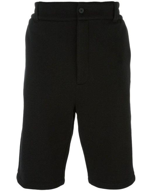 Helmut Lang - Black Knee-length Shorts for Men - Lyst