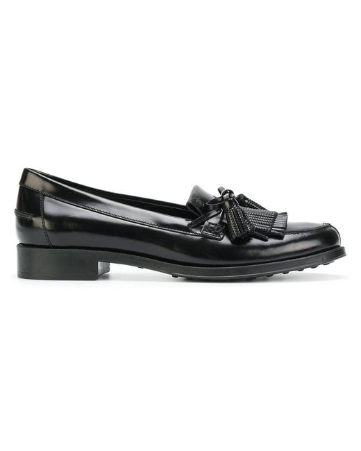 Tod's | Black Mocassino Loafers | Lyst