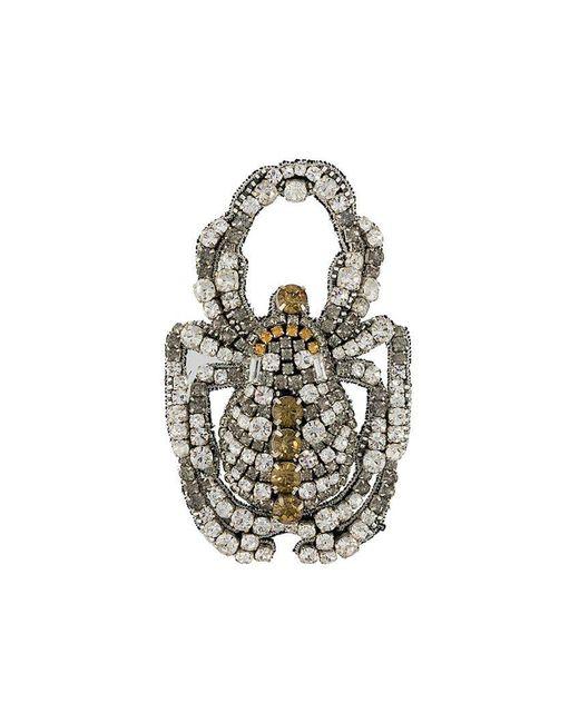 Rochas - Gray Scarab Beetle Brooch - Lyst