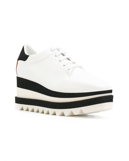fa3b0cc7772 Lyst - Stella McCartney Elyse Platform Shoes in White - Save 73%