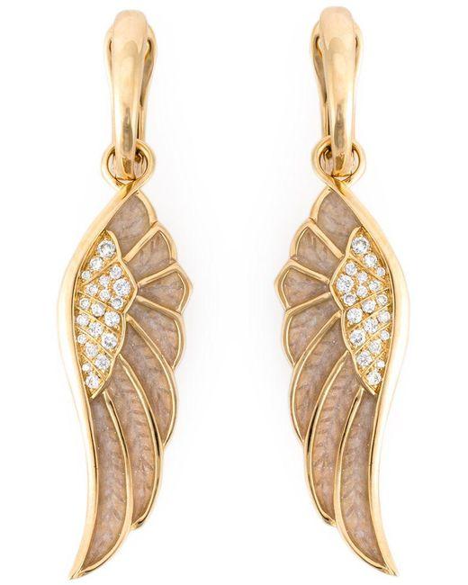 Garrard | Metallic Diamond Detail Wing Earrings | Lyst