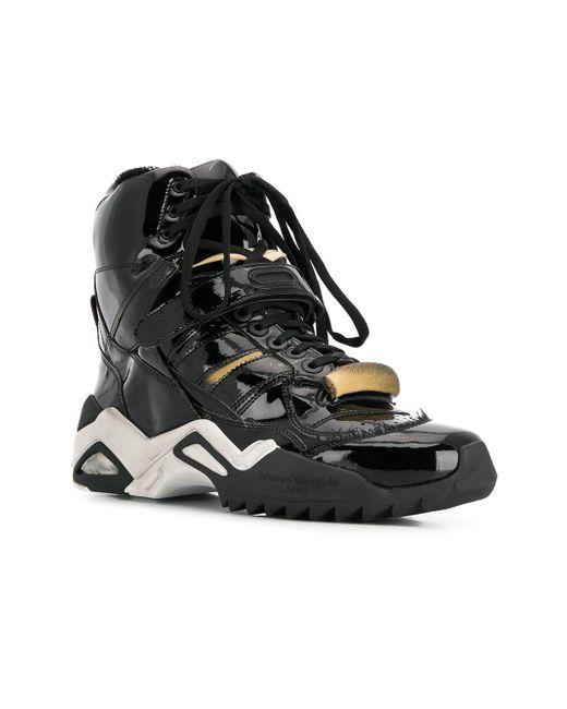 7367603ca88e ... Maison Margiela - Black Retro Fit Sneakers for Men - Lyst ...