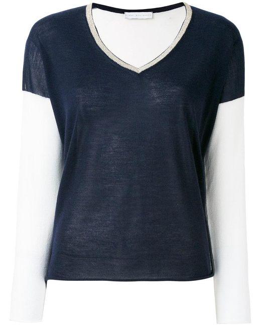 Giada Benincasa - Blue V-neck Sweater - Lyst