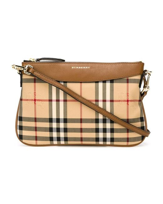 Burberry | Brown Horseferry Check Crossbody Bag | Lyst