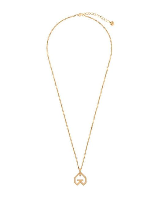 249ab027b28a65 Givenchy - Metallic Heart Pendant Necklace - Lyst ...