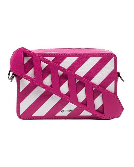 Off-White c/o Virgil Abloh - Pink Leather Diagonal Striped Belt Bag - Lyst