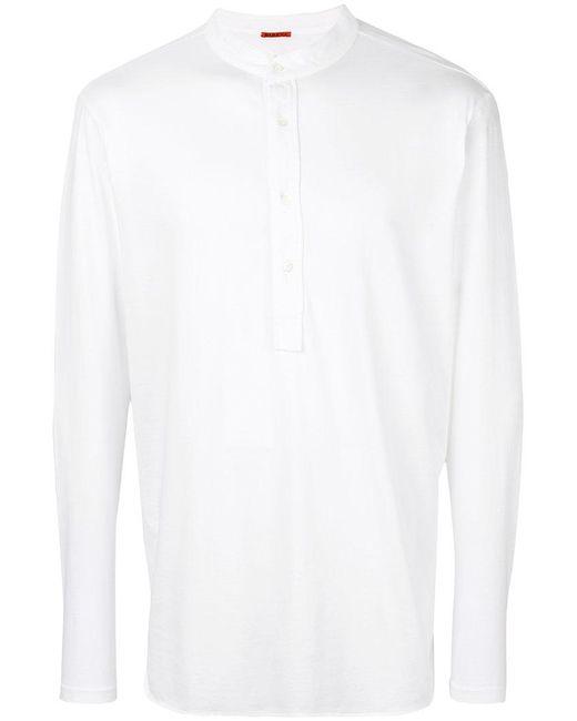 Barena | White Henley T-shirt for Men | Lyst