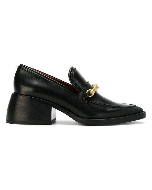 Joseph | Black Chunky Heel Loafers | Lyst