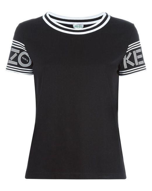 KENZO | Black Round Neck T-shirt | Lyst