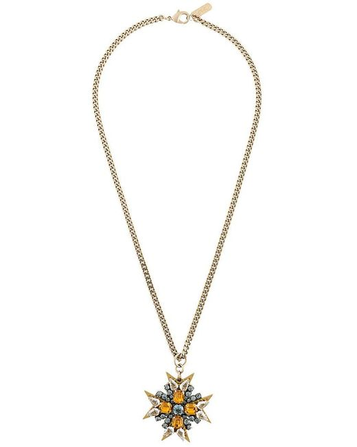 Rada' | Metallic Embellished Cross Necklace | Lyst
