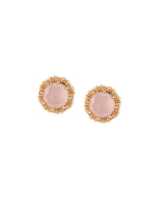 Stephen Webster - Metallic 18kt Rose Gold, Opal And Diamond Stud Earrings - Lyst