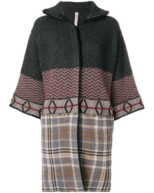 Antonio Marras - Gray Patchwork Cropped Sleeve Coat - Lyst