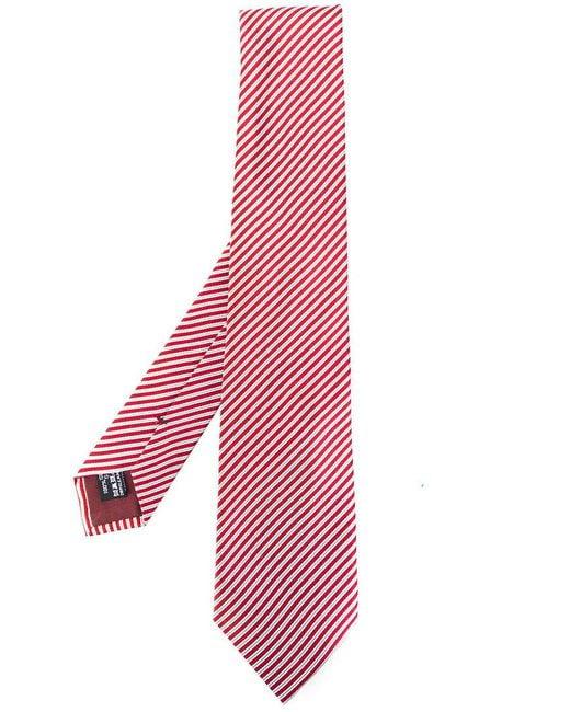 Giorgio Armani   Red Diagonal Stripes Tie for Men   Lyst