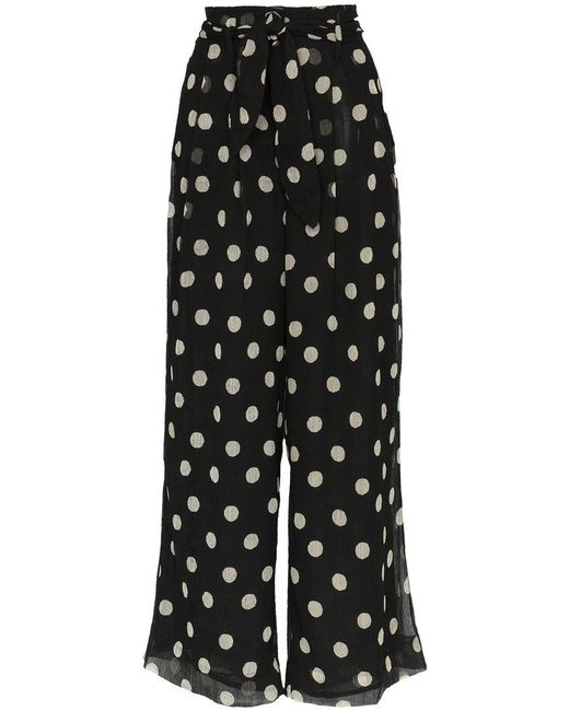 Nevada high waisted polka dot wide-leg trousers Nanushka cT6bL